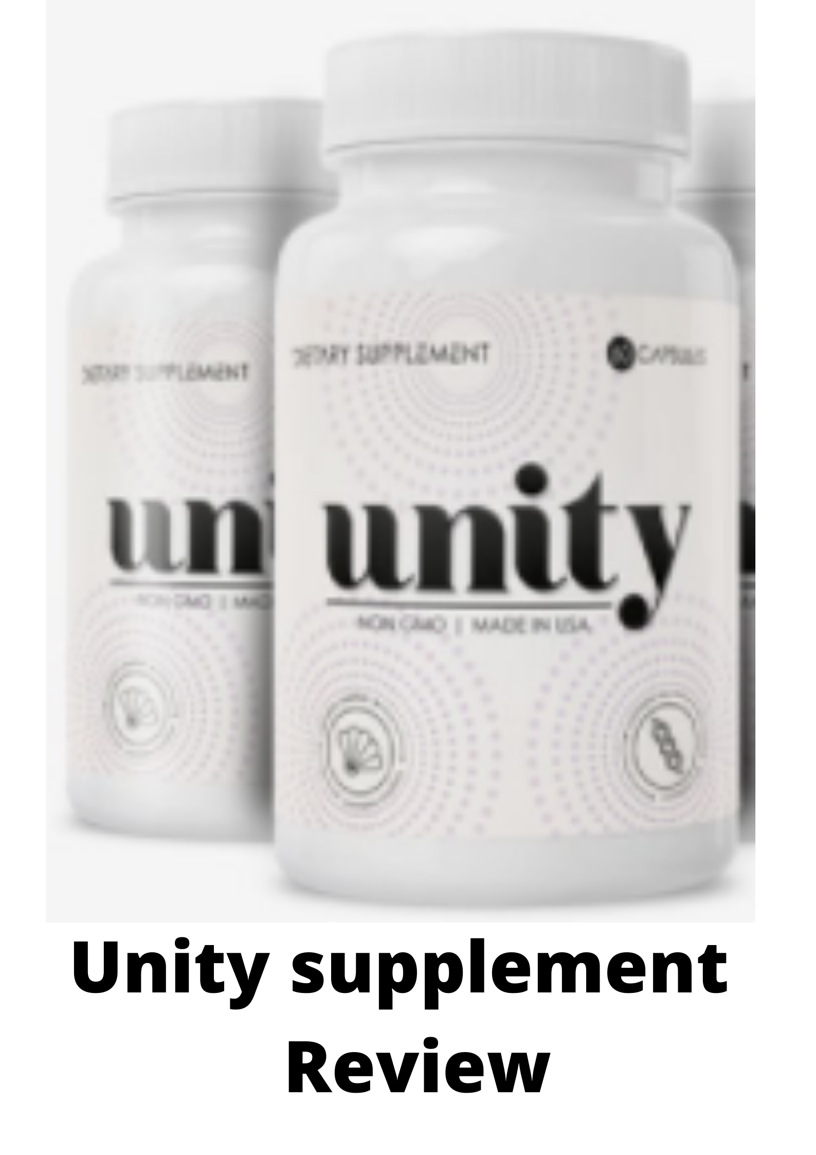 UNITY SUPPLEMENT REVIEW-Should you try it?