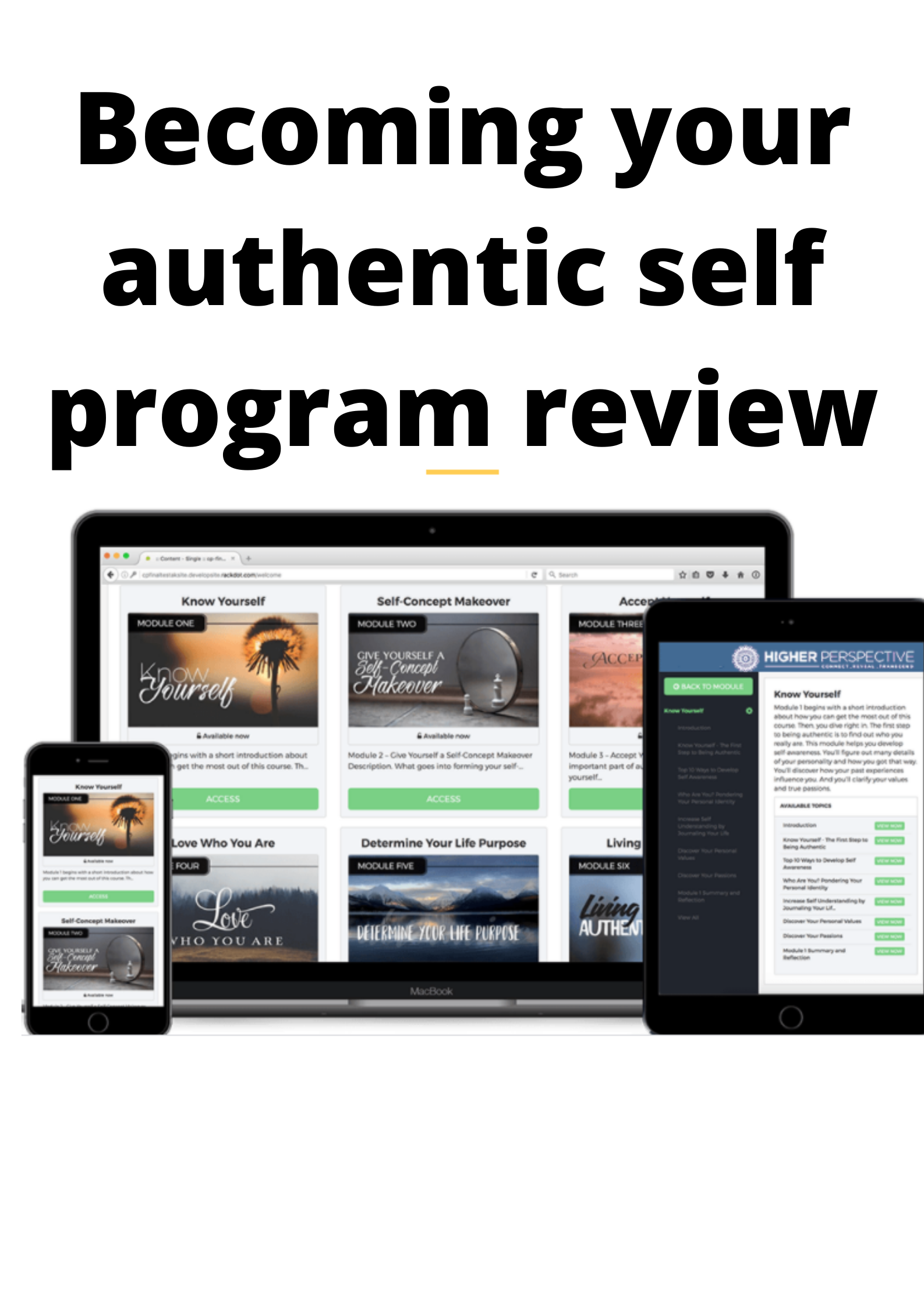 Becoming Your Authentic Self Review-
