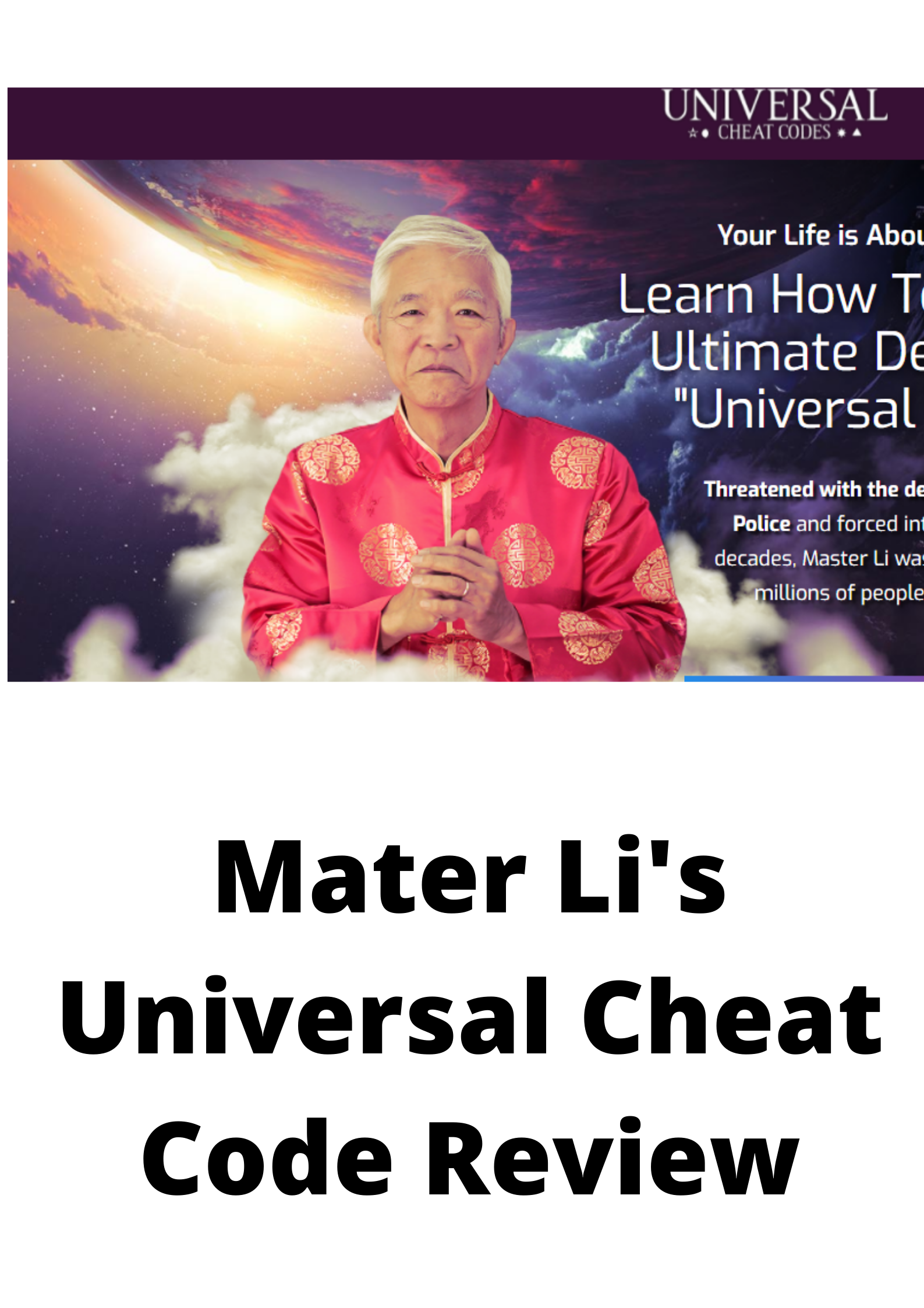 Master Li's Universal Cheat Codes Reviews-Is this a scam?